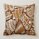 Christmas Gingerbread Cookies Throw Pillow