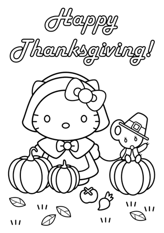 6700 Top Cartoon Thanksgiving Coloring Pages  Images