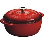 Lodge 6qt Cast Iron Enamel Dutch Oven Red
