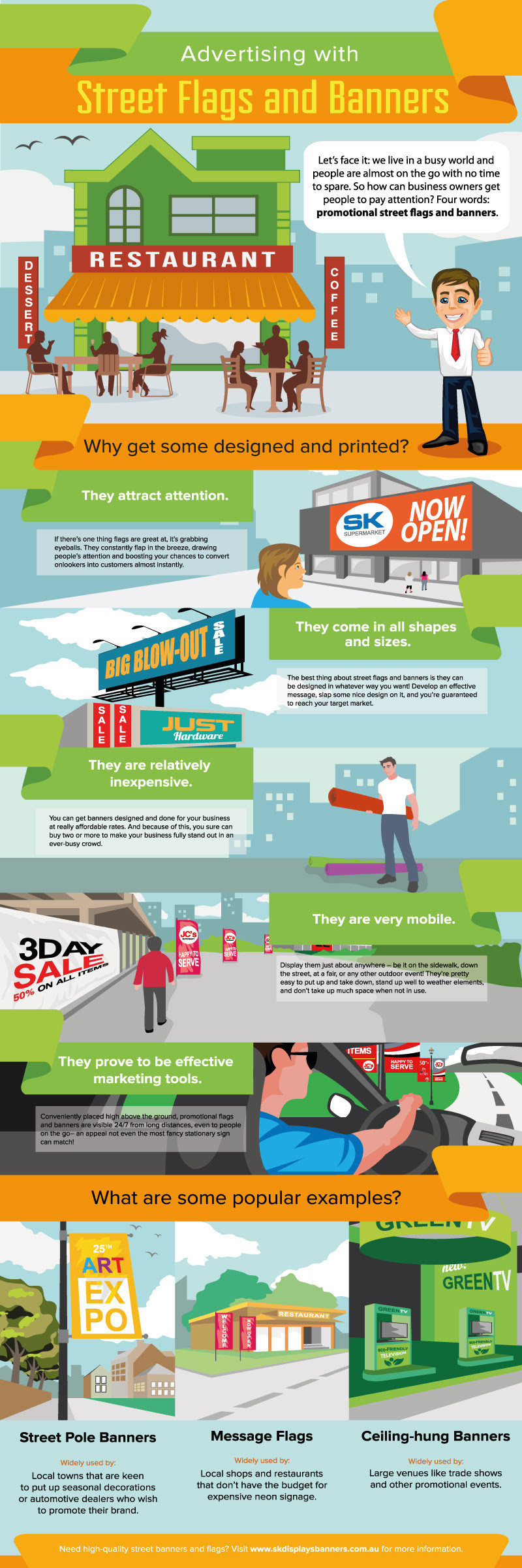 Infographic: Advertising with Street Flags and Banners #infographic