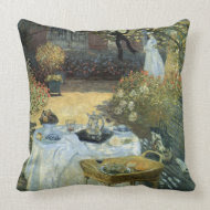 The Luncheon by Claude Monet throwpillow