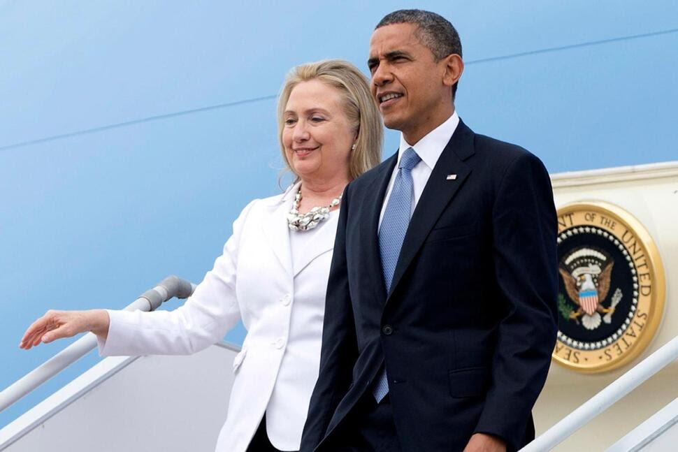 Image result for clinton and obama