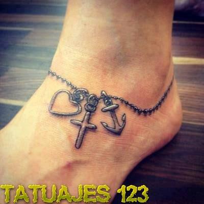 Pulsera Para Pie Tatuajes 123