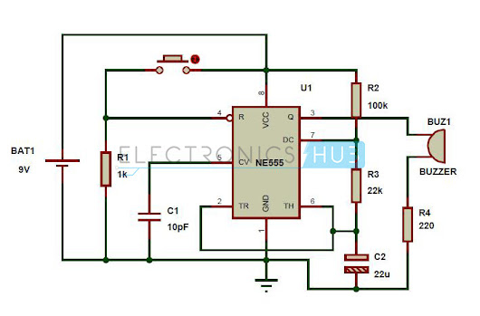 Panic Alarm using 555 Timer - Engineering Projects