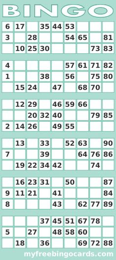 Free Printable Bingo Cards | Bingo, Movies and Oscars