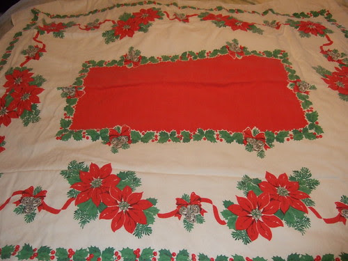 Vintage table cloth score