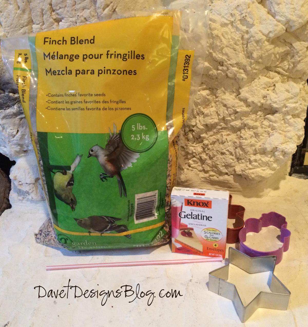 Cookie Cutter Bird Seed Feeder Ornaments supplies