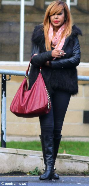Giving evidence: Miss Oni, pictured outside court today, is appearing as a witness at the trial