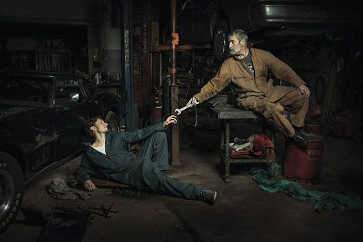 Auto Mechanics Recreate Famous Renaissance Paintings - Neatorama