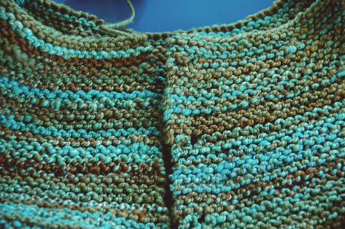 Handspun sweater closeup