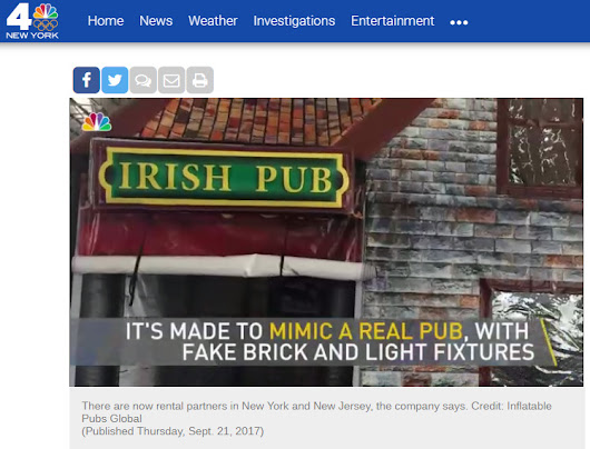 Inflatable Pub features on NBC New York | Inflatable.Pub