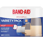 BAND-AID Sheer/Wet Adhesive Bandages Variety Pack - 280 count