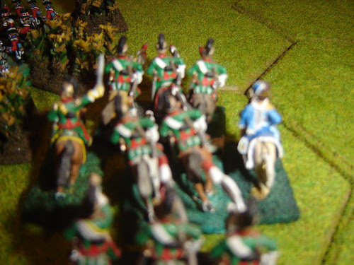Reille leads heavy cavalry against the English in the cornfields