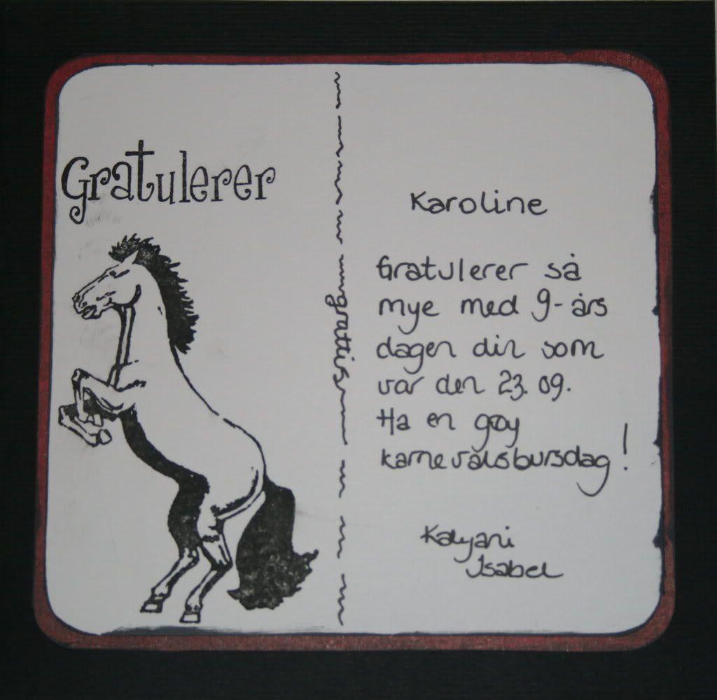 inni kortet... ikke så avansert, men hest for hestejenta er godkjent, hi-hi!