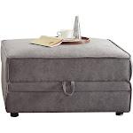Acme Furniture Bois Grey Velvet Storage Ottoman