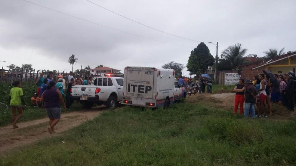 Um dos crimes aconteceu no Pajuçara, onde a vítima trabalhava capinando. (Foto: Sérgio Henrique Santos / Inter TV Cabugi)
