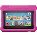 """Amazon - Fire 7 Kids Edition 2019 Release - 7"""" - Tablet - 16GB - Pink"""