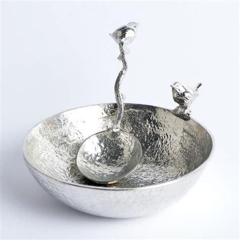 Bird Wren Bowl with Wren Spoon UK Made Pewter Gifts