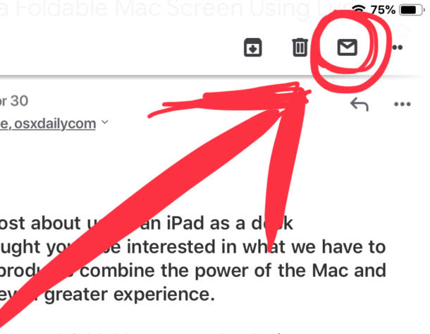 How to Mark Email as Unread or Read in Gmail for iPad ...