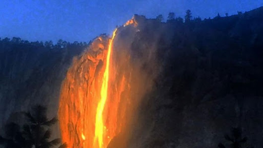 Yosemite 'firefall' has hikers transfixed - BBC News