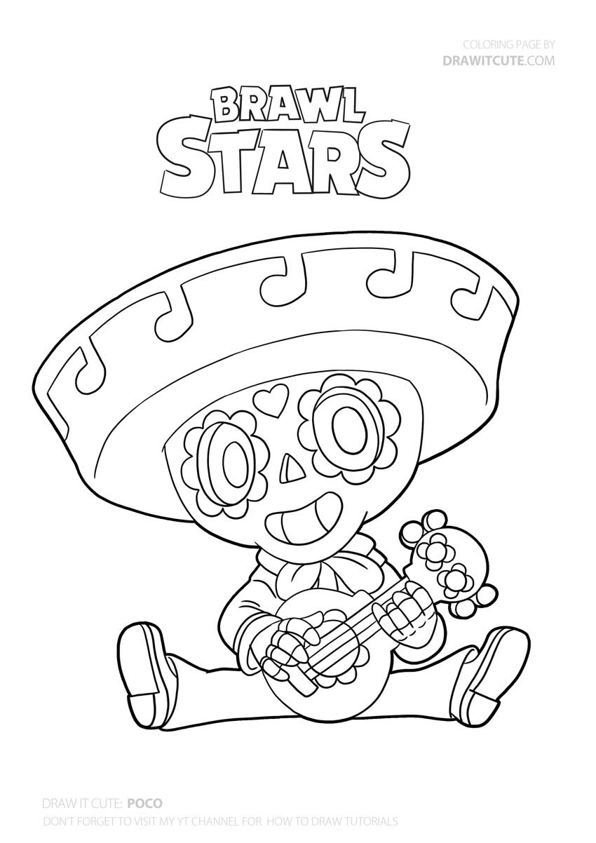 Coloring And Drawing Brawlers Brawl Stars Coloring Pages Max