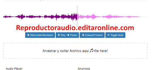 Reproductor audio en linea