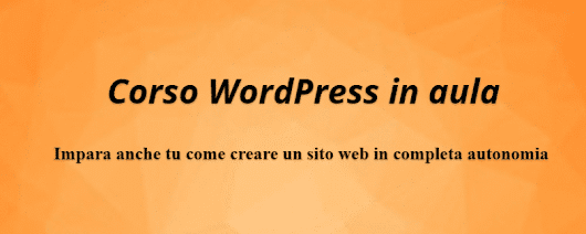 Corso WordPress in aula - Web Assistant di Francesca Galasso
