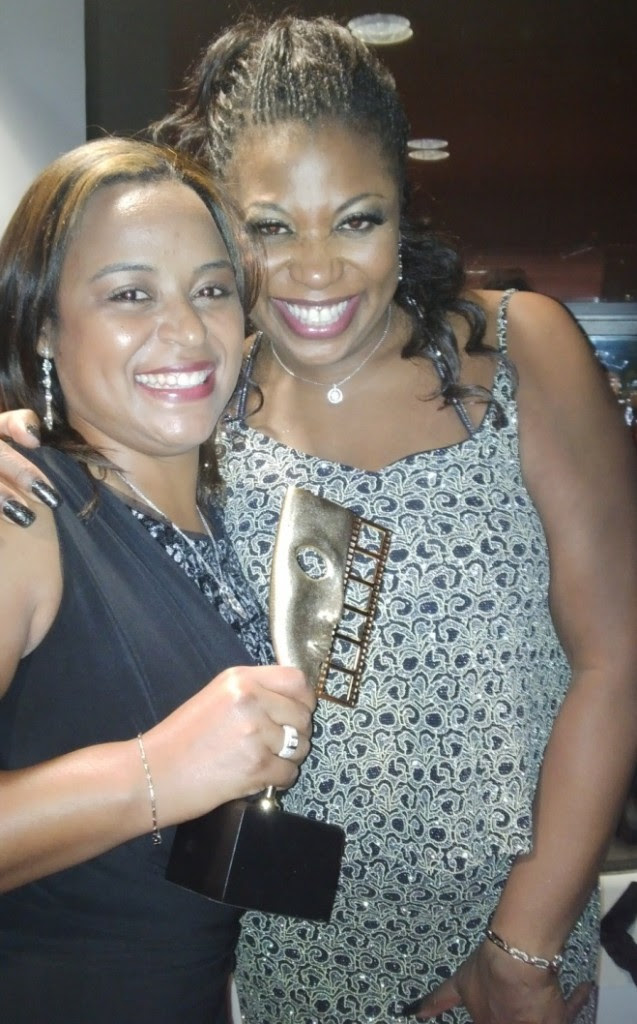 Michelle Bello and British singer and West End actress Brenda Edwards.