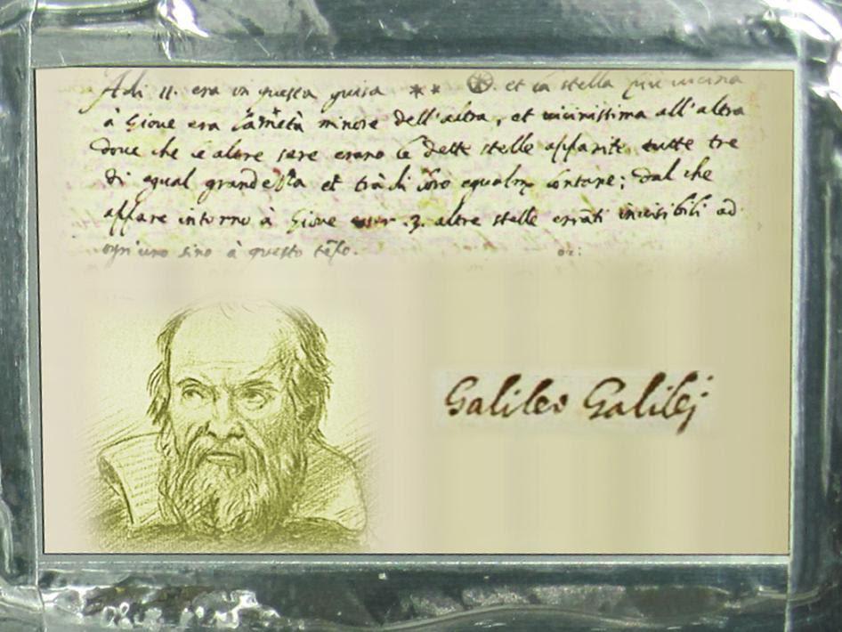 targa coomemorativa dedicata a Galileo