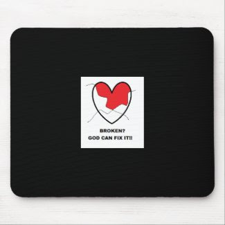 God Can Fix It Mousepad