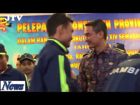 Zola Lepas Kontigen POPNAS Jambi Ke Semarang