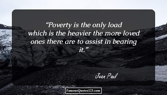 Poverty Quotes Famous Scarcity Shortage Quotations Sayings