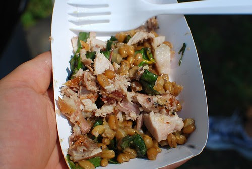 Roasted pork with triticale