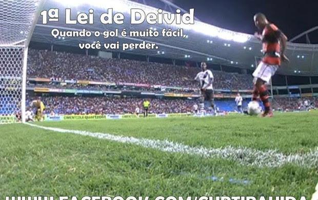 Torcida do Vasco ironiza Deivid (Foto: Reprodução)