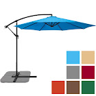 Best Choice Products 10' Offset Patio Hanging Umbrella (Blue)