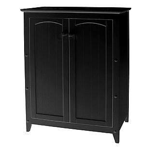 Catskill Black Double Door Cabinet - Furniture & Mattresses ...