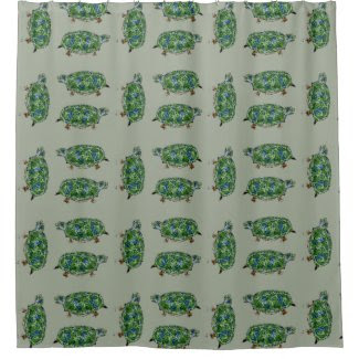 Turtle Design on Shower Curtain
