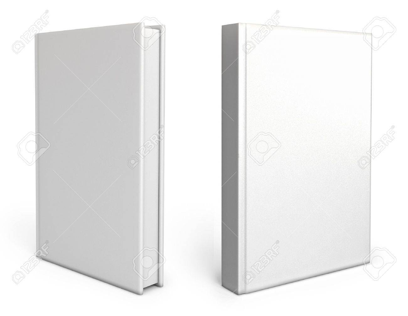 Front View Of Blank Book Cover White Stock Photo, Picture And ...