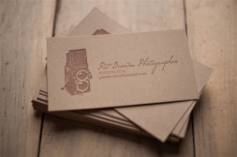 Rustic Kraft Business Cards   Pat Brown, Photographer