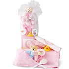 Baby Girl Pink Gift Set, 8Pc With Decorative Cube by 1-800-Baskets - Gift Basket Delivery