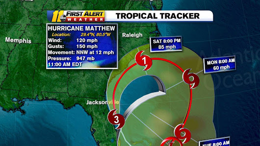 Hurricane warning issued for NC as Matthew moves closer