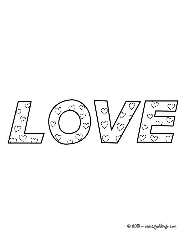 Dibujos Para Colorear Love Es Amor Es Hellokids Com
