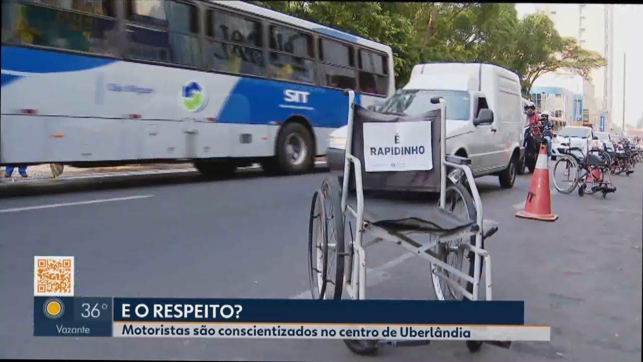 Resultado de imagem para Ação no Centro de Uberlândia conscientiza sobre os direitos das pessoas com deficiência
