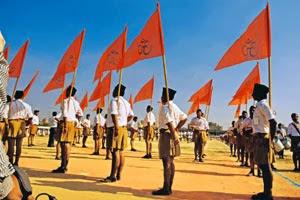 Nationalist RSS - Bhagwa flag