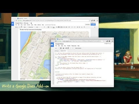 How to Write an Add-on for Google Docs and Sheets - Video Tutorial