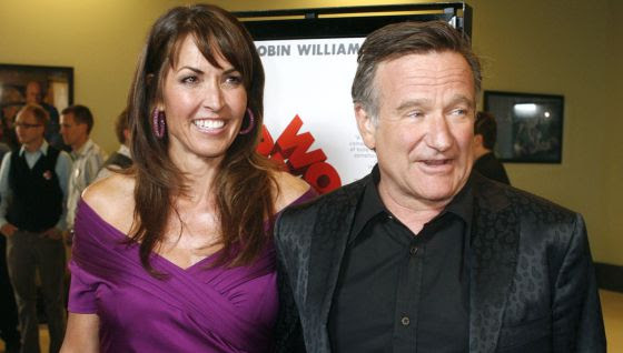 Susan y Robin Williams en el estreno de 'World's Greatest Dad'