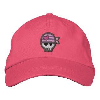 Girl Pirate Skull embroideredhat
