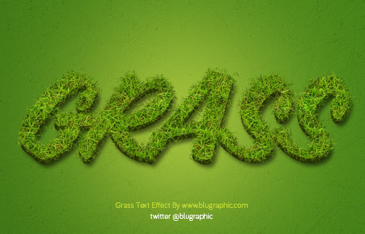 Grass Text Effect Action (Psd / Atn)