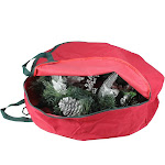 """24"""" Red Spiral Tree Christmas Wreath Protective Storage Bag with Handles by Christmas Central"""