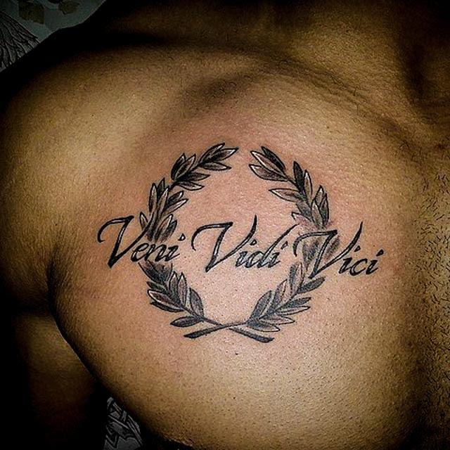 16 Veni Vidi Vici Tattoos With Explained Meaning Tattoos Win